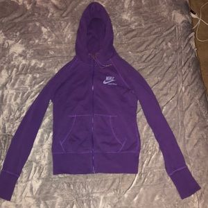 Purple Nike Sportswear Zip-up Hoodie